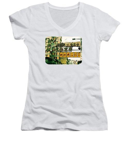 Hammer To Fall Women's V-Neck T-Shirt (Junior Cut) by Ethna Gillespie