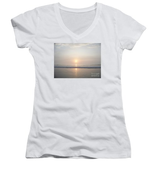Hampton Beach Sunrise Women's V-Neck T-Shirt