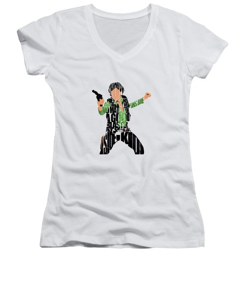 Han Solo From Star Wars Women's V-Neck