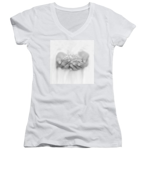 Handfull Of Shards Women's V-Neck T-Shirt