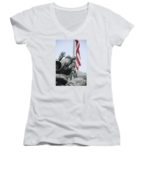 Hands Of Suribachi Women's V-Neck T-Shirt