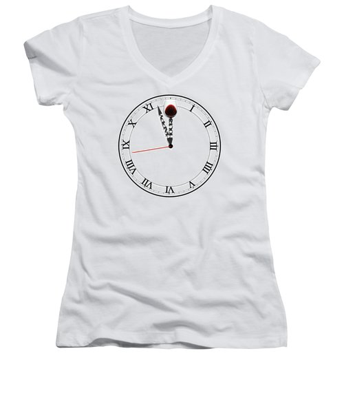 Happy Hour Women's V-Neck T-Shirt (Junior Cut) by ISAW Gallery