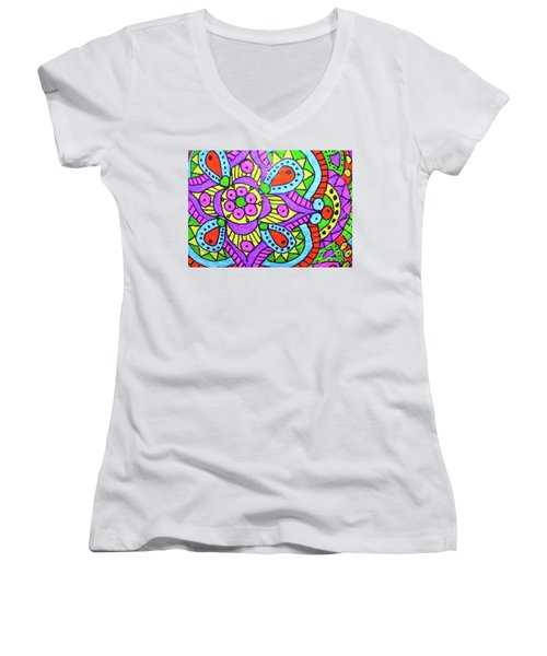 Happy Place 2 Women's V-Neck (Athletic Fit)
