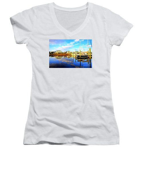 Harbour Reflections Women's V-Neck T-Shirt