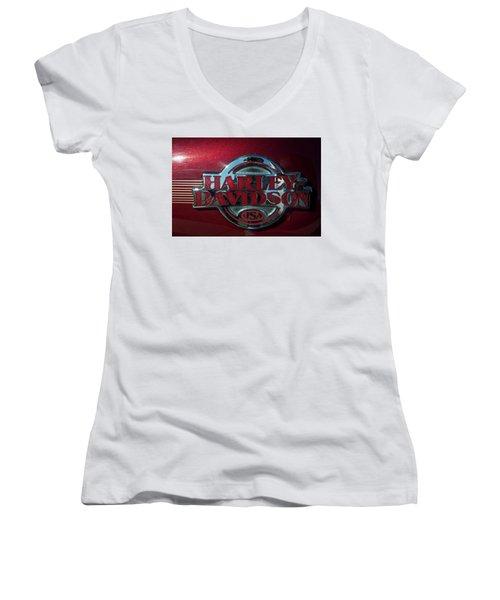 Harley Davidson 12 Women's V-Neck T-Shirt