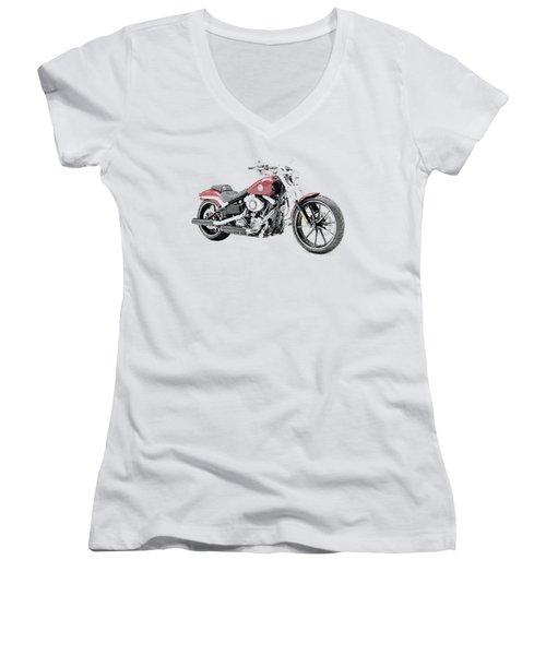 Harley-davidson Breakout - Parallel Hatching Women's V-Neck T-Shirt