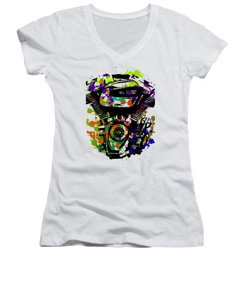 Harley Davidson Pop Art 1 Women's V-Neck (Athletic Fit)