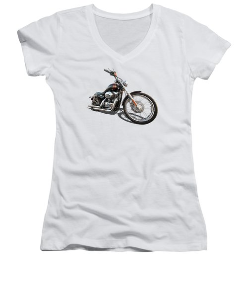 Harley Sportster Xl1200 Custom Women's V-Neck