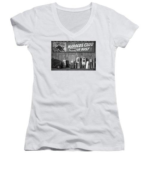 Harold's Club Women's V-Neck T-Shirt