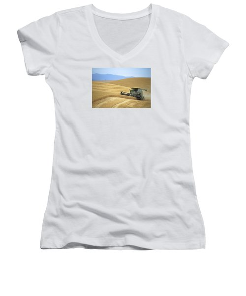 Harvest And Moscow Mountain Women's V-Neck T-Shirt