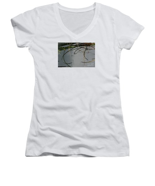 Women's V-Neck T-Shirt (Junior Cut) featuring the photograph Have A Great Day by Brian Boyle