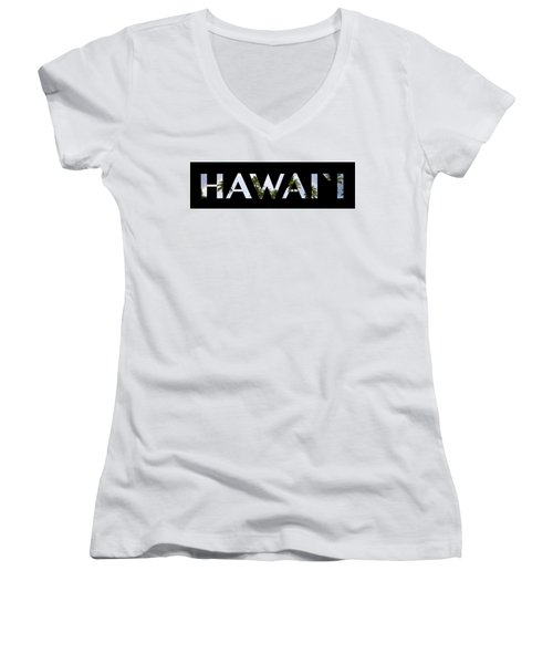 Hawaii Letter Art Women's V-Neck (Athletic Fit)