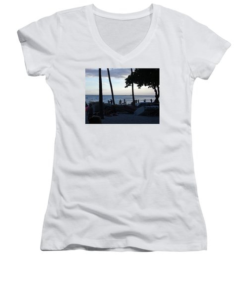 Hawaiian Afternoon Women's V-Neck (Athletic Fit)