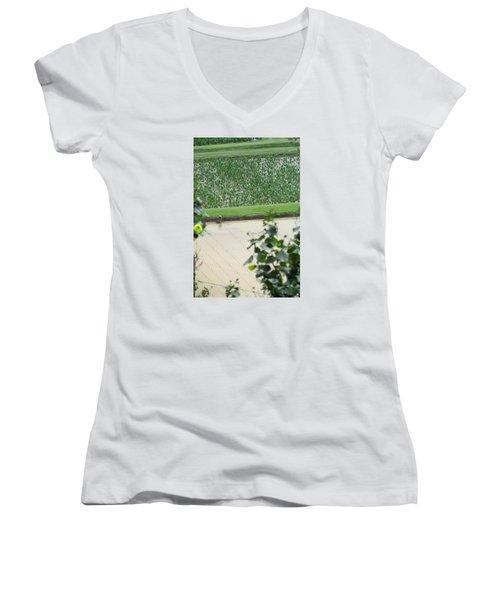 Women's V-Neck T-Shirt (Junior Cut) featuring the photograph Hawaiian Transplants by Brenda Pressnall