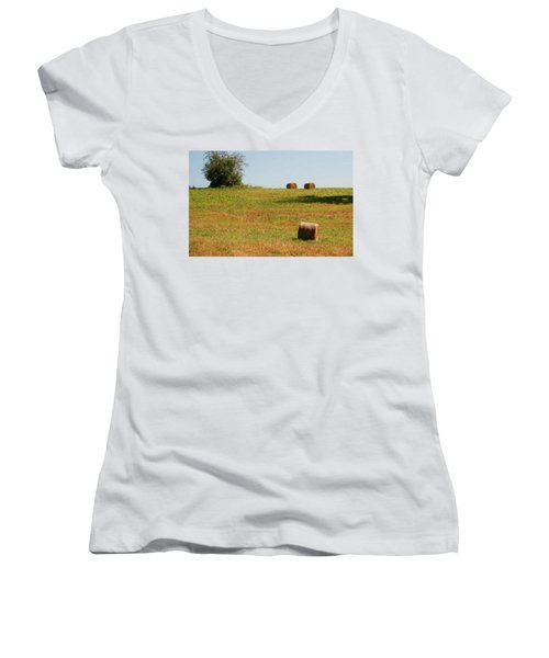 Hay Bales Women's V-Neck