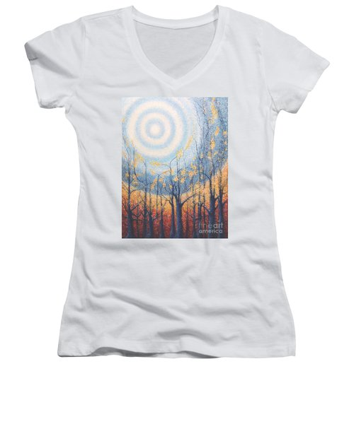 He Lights The Way In The Darkness Women's V-Neck
