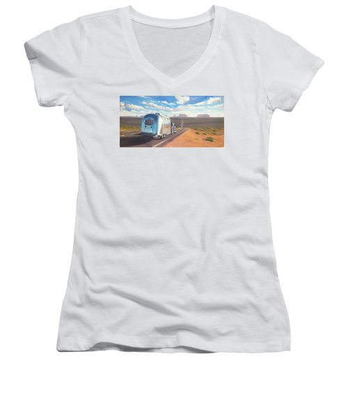 Heading South Towards Monument Valley Women's V-Neck