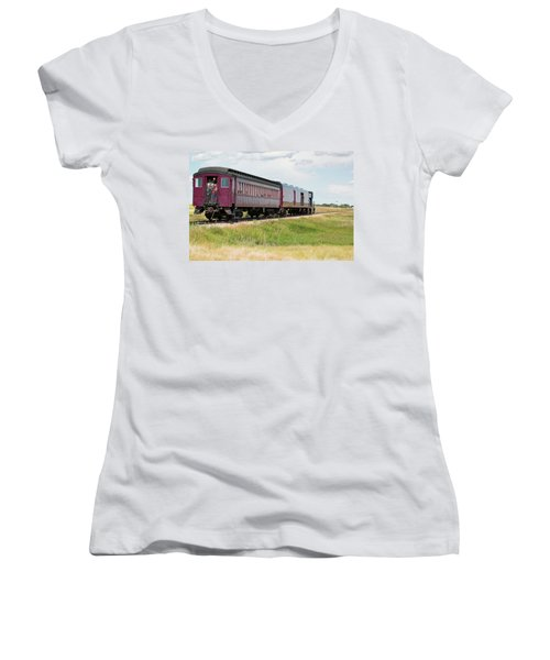 Heading To Town Women's V-Neck (Athletic Fit)