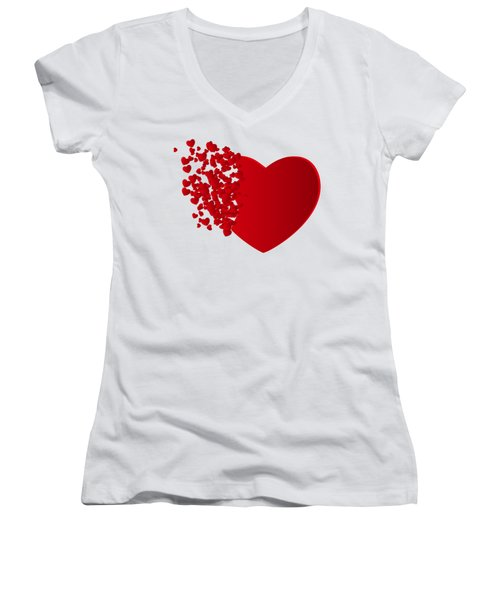 Hears Of Hearts Women's V-Neck (Athletic Fit)