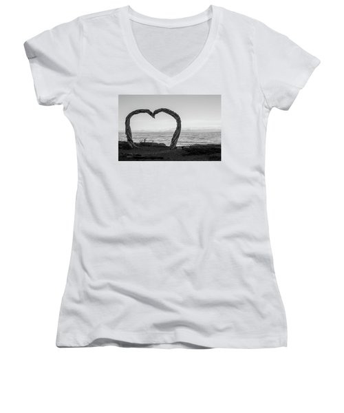 Heart Arch Women's V-Neck