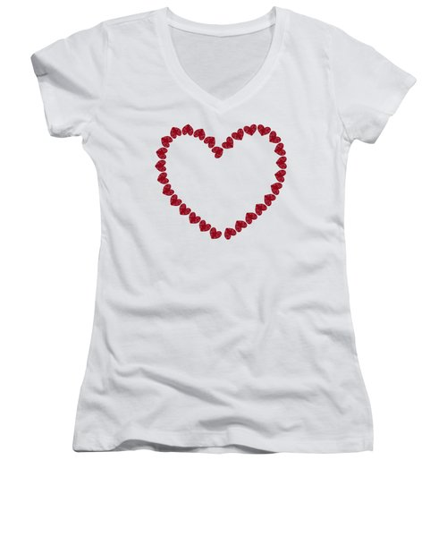Heart From Red Hearts Women's V-Neck (Athletic Fit)