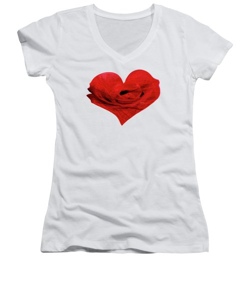 Heart Sketch Women's V-Neck (Athletic Fit)