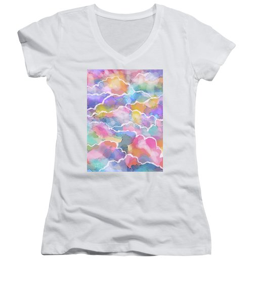 Heavenly Clouds Women's V-Neck (Athletic Fit)