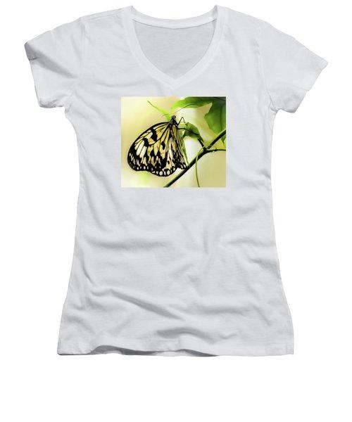 Heaven's Door Hath Opened Women's V-Neck T-Shirt (Junior Cut) by Karen Wiles