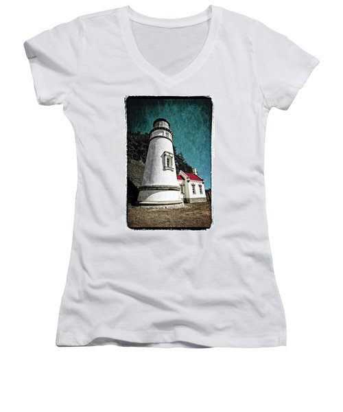 Hecitia Head Lighthouse Women's V-Neck (Athletic Fit)
