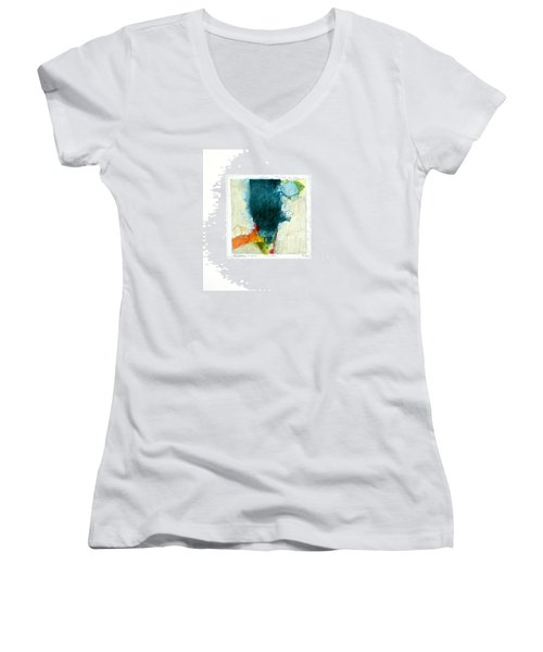 Hedgefishog  --start-- Women's V-Neck T-Shirt (Junior Cut) by Cliff Spohn