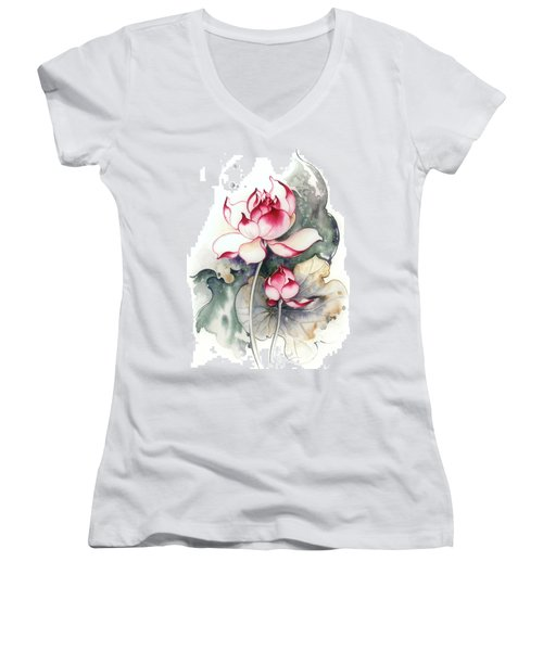 Heir To The Throne Women's V-Neck T-Shirt (Junior Cut) by Anna Ewa Miarczynska