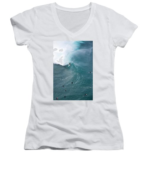 Tubed From Above. Women's V-Neck (Athletic Fit)