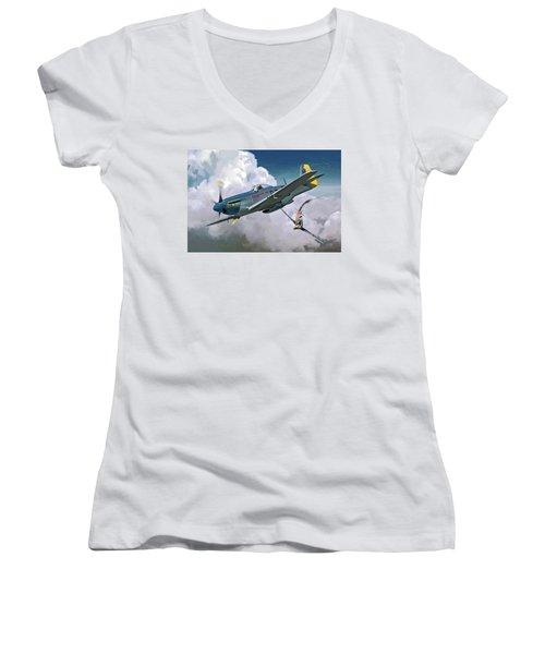 Saturday Morning Women's V-Neck T-Shirt