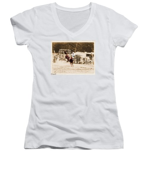 Helluva Rodeo-the Ride 3 Women's V-Neck (Athletic Fit)