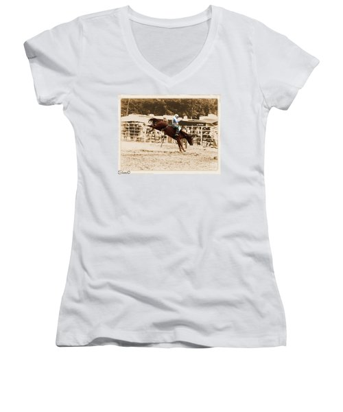 Helluva Rodeo-the Ride 4 Women's V-Neck (Athletic Fit)