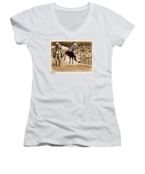 Helluva Rodeo-the Ride 5 Women's V-Neck (Athletic Fit)