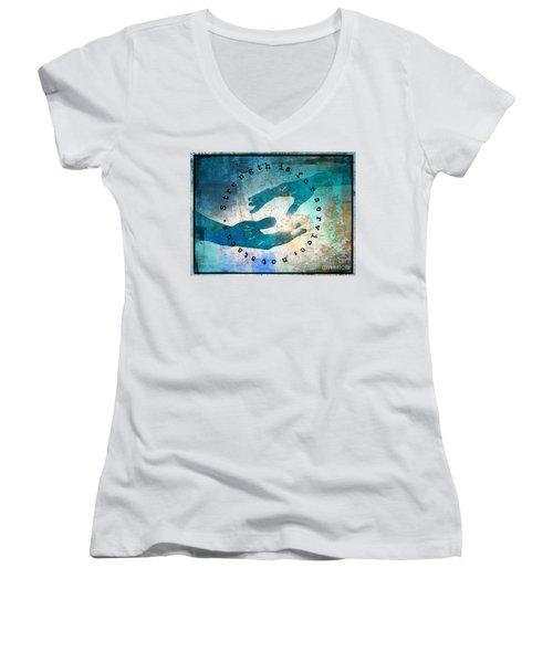 Helping Hands Women's V-Neck T-Shirt
