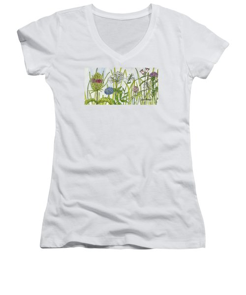 Herbs And Flowers Women's V-Neck