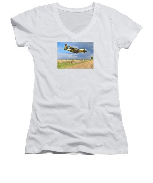 Women's V-Neck T-Shirt (Junior Cut) featuring the photograph Hercules Xv222 by Paul Gulliver