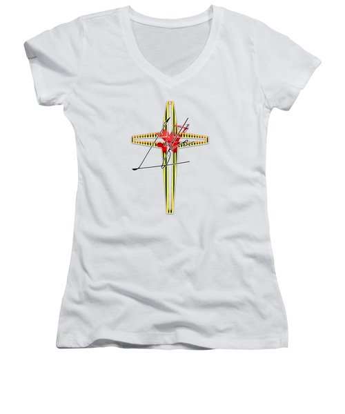Here Shall Thy Proud Waves Be Stayed Women's V-Neck