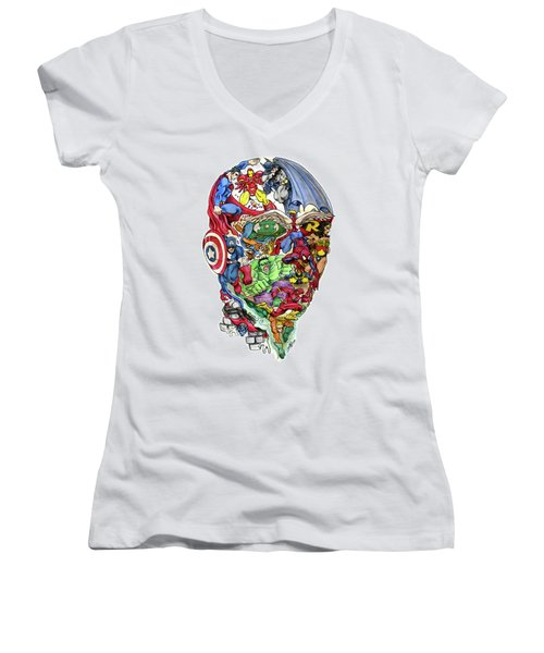 Heroic Mind Women's V-Neck T-Shirt