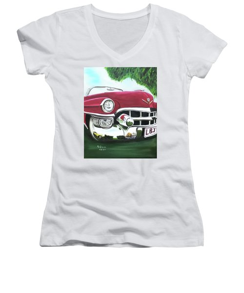 Hey Hey Lbj Women's V-Neck T-Shirt