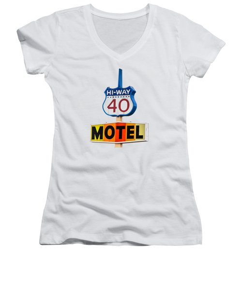 Hi-way 40 Motel Women's V-Neck