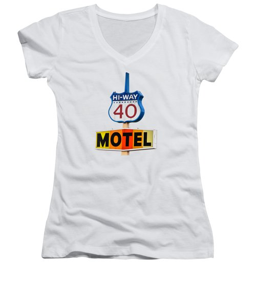 Hi-way 40 Motel Women's V-Neck (Athletic Fit)