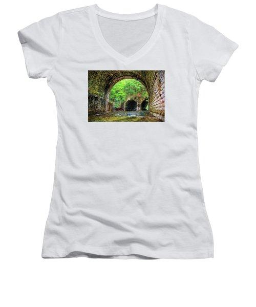 Hidden Gem Women's V-Neck T-Shirt (Junior Cut) by Jim Lepard