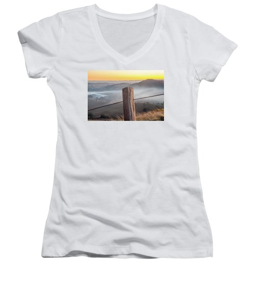 Women's V-Neck T-Shirt (Junior Cut) featuring the photograph High Country by Az Jackson