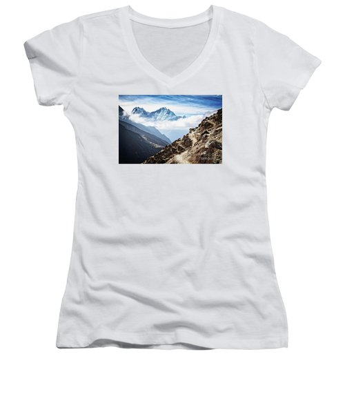 High In The Himalayas Women's V-Neck