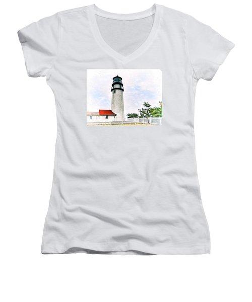 Highland Lighthouse Cape Cod Women's V-Neck T-Shirt