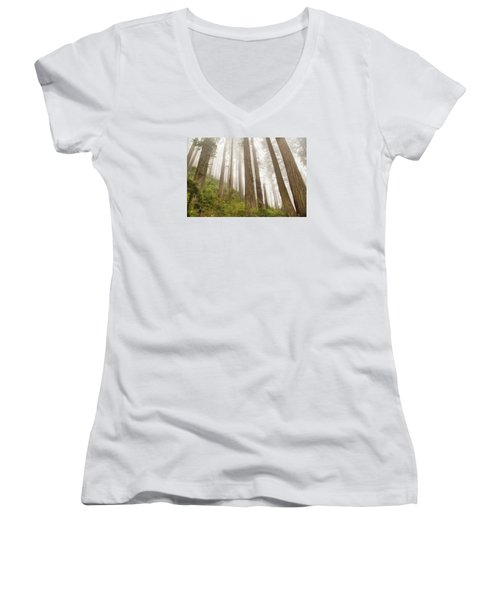 Hike Through The Redwoods Women's V-Neck (Athletic Fit)