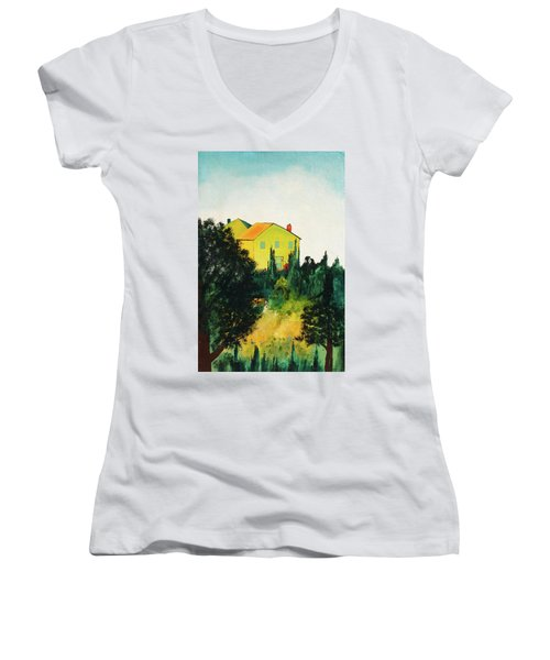 Hillside Romance Women's V-Neck